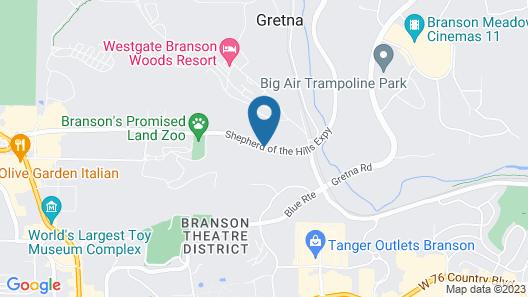 Scenic Hills Inn Map