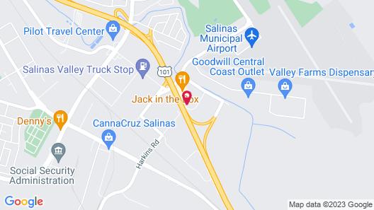 Motel 6 Salinas, CA - South - Monterey Area Map