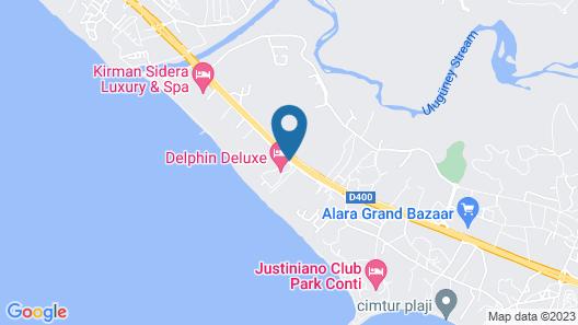 Delphin Deluxe Resort Hotel - All Inclusive Map