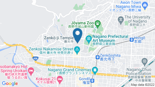 Zenkoji Temple Yakuoin Map