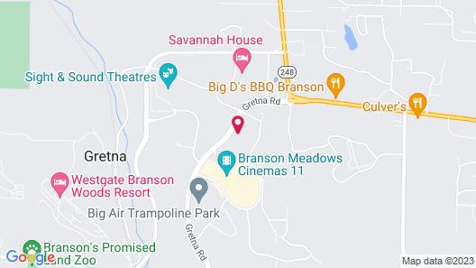 Comfort Inn & Suites Branson Meadows Map