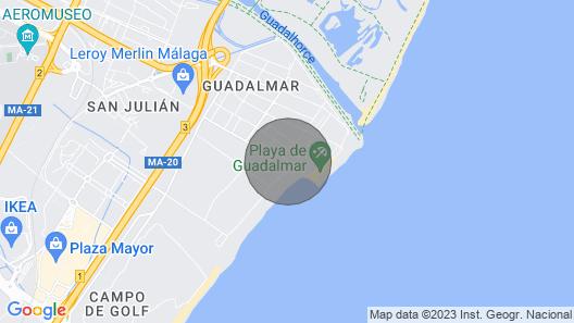 Beach Apartment in Malaga Guadalmar Spain Map