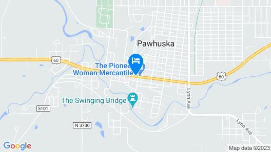 Frontier Hotel Pawhuska Map