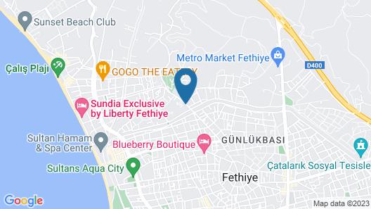 Calis Beach Apartments Map