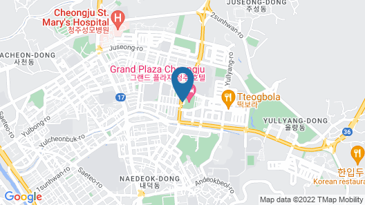 Grand Plaza Cheongju Map