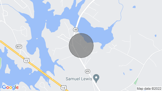 Fisherman's Dream: 2 Queen Bedrooms W/private Dock, Sandy Beach, Bluestone Creek Map