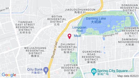 GreenTree Inn Jinan Daming Lake Hotel Map