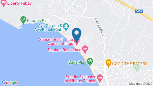 Sunset Beach Villas and Apartments Map