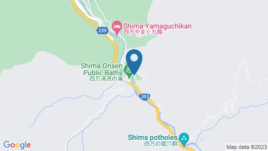 Shima Onsen Kashiwaya Ryokan Map