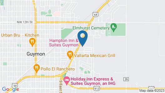 Hampton Inn & Suites Guymon OK Map