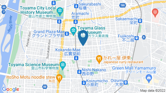 Toolate Guesthouse Toyama Map