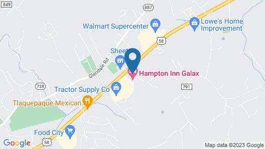 Hampton Inn Galax Map