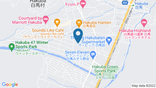 36 Degrees North, Lodge Hakuba Japan Map