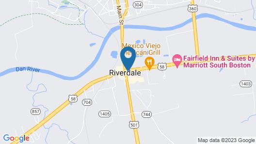 Super 8 by Wyndham South Boston VA Map