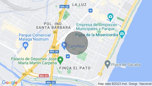 Apartment Muñoz 10 People ?pool + Beach + Tenis? Map