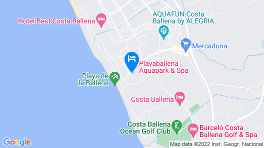 Playaballena Spa Hotel Map