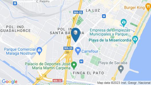 Hilton Garden Inn Malaga Map