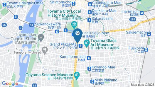 Tennen Onsen Toyama Tsurugi no Yu Onyado Nono Map