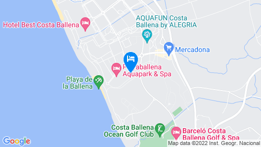 Apartment With 3 Bedrooms in Rota, With Shared Pool and Furnished Terrace - 650 m From the Beach Map