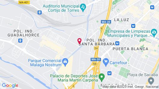 Hotel Málaga Nostrum Map