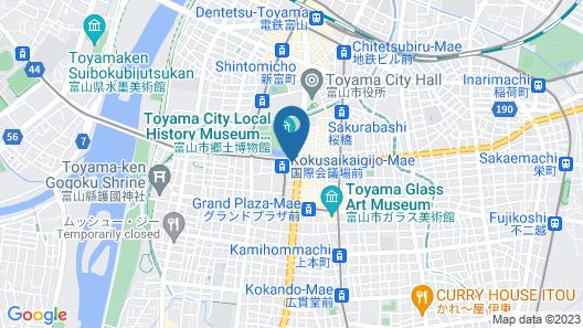 Crowne Plaza ANA Toyama, an IHG Hotel Map