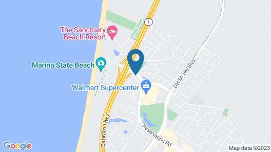 Motel 6 Marina, CA - Monterey Map