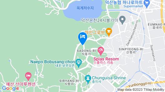 Yesan Jeongdaun Pension Map