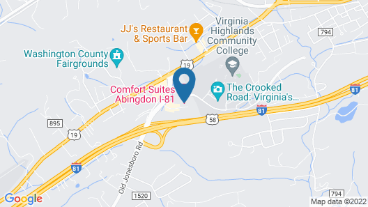 Comfort Suites Abingdon I-81 Map