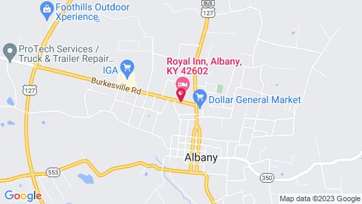 Royal Inn Albany Map