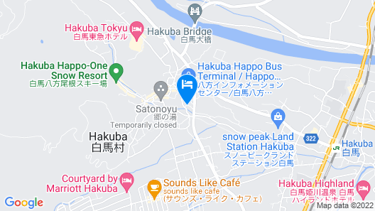 Hakuba Alpine Hotel Map