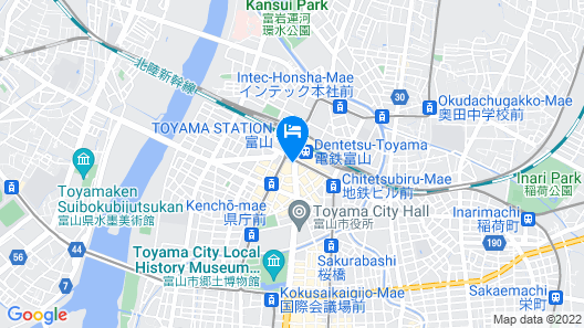 Toyama Excel Hotel Tokyu Map