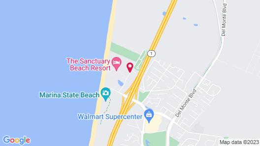 Best Western Marina State Beach Map