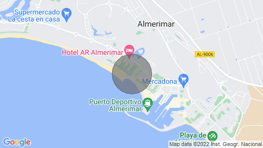 Frontline Playas del Golf, Almerimar Map