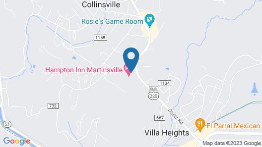 Hampton Inn Martinsville Map