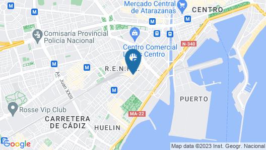 Eurostars Málaga Hotel Map