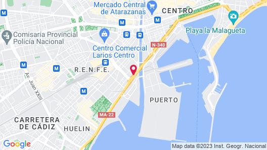 Hotel ILUNION Malaga Map