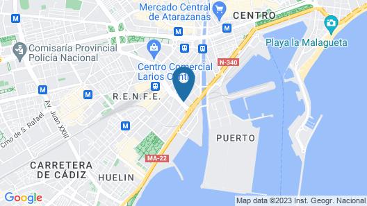 easyHotel Málaga City Centre Map
