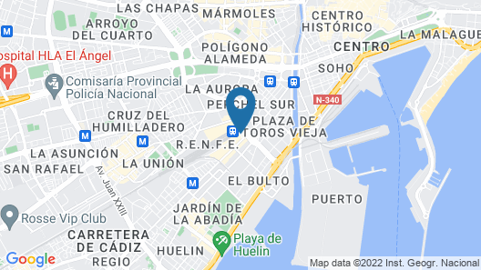 Barceló Malaga Hotel Map