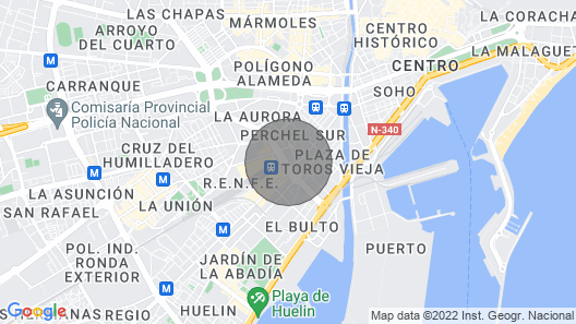 Centric and Modern Apartment by Rafleys in Málaga Capital, Close to Everything Map
