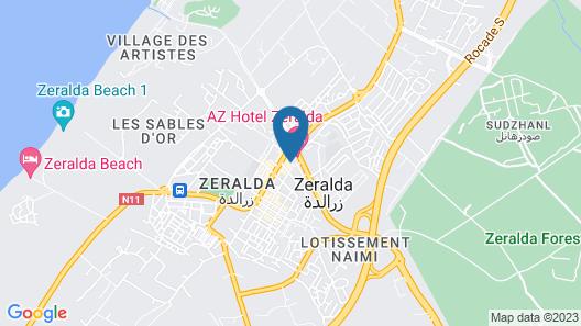 AZ Hôtel Zeralda Map