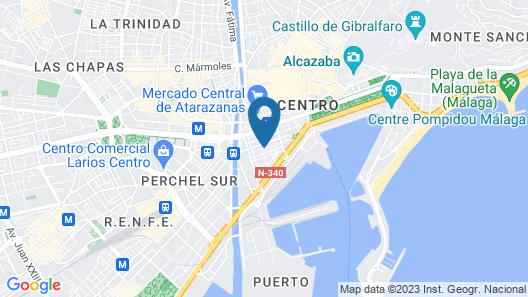 Mariposa Hotel Malaga Map