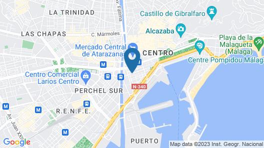 Feel Hostels Soho Malaga Map