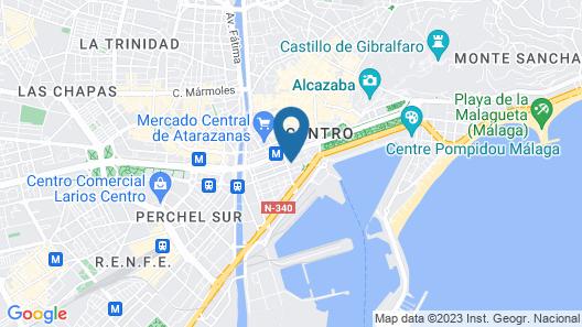 Hotel Sur Málaga Map