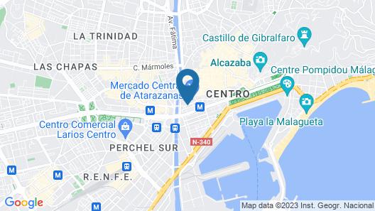 BH Atarazanas Málaga Boutique Hotel Map