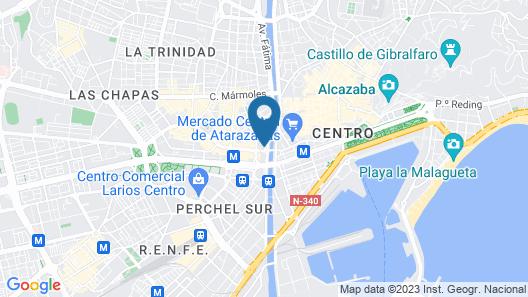 NH Málaga Hotel Map