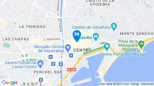 Petit Palace Plaza Malaga Hotel Map