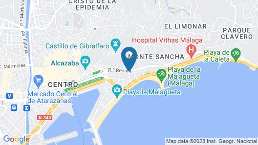 Gran hotel Miramar GL Map