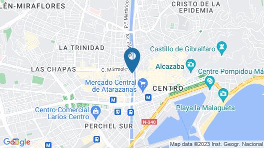 ibis Malaga Centro Ciudad Map