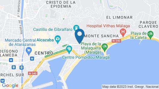 Málaga Hotel Eliseos Map