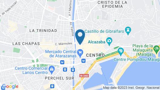 Exe Málaga Museos Hotel Map